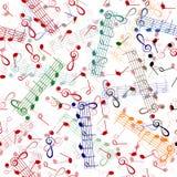 重复样式的音乐记法 库存照片