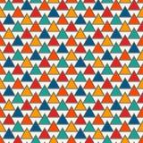 重复的三角背景 与几何图的简单的抽象墙纸 模式无缝的表面 免版税库存照片