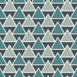 重复的三角背景 与几何图的简单的抽象墙纸 模式无缝的表面 皇族释放例证