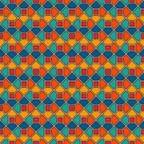 重复的八角形物彩色玻璃马赛克摘要背景 生动的陶瓷砖墙纸 模式无缝的表面 皇族释放例证