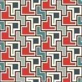 重复的创造性的难题马赛克摘要背景 与简单的几何装饰品的无缝的表面样式设计 免版税图库摄影