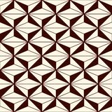 重复的图背景 几何形状 与多角形的无缝的样式 当代抽象印刷品 库存例证