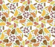 重复的无缝的秋天样式 库存图片