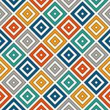 重复的明亮的金刚石背景 几何主题 与生动的颜色方形的装饰品的无缝的表面样式设计 皇族释放例证