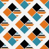 重复的明亮的金刚石背景 几何主题 与生动的颜色方形的装饰品的无缝的表面样式设计 ?? 库存例证