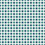 重复的蓝色金刚石背景 几何主题 与淡色方形的装饰品的无缝的表面样式设计 免版税图库摄影