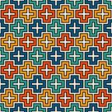 重复的难题马赛克摘要背景 与简单的几何装饰品的无缝的样式 聪慧的孩子表面纹理 皇族释放例证