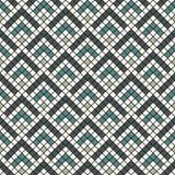重复的V形臂章抽象墙纸 与扇贝的亚洲传统装饰品 与标度的无缝的表面样式 免版税库存照片
