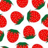 重复草莓 向量例证