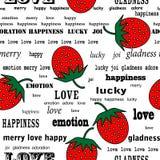 重复草莓 库存例证