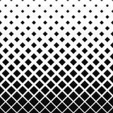 重复黑白方形的样式 免版税库存照片