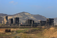 重工业废墟 免版税库存图片