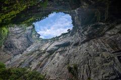 重庆乌龙自然桥梁视图 免版税库存照片