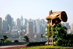 重庆文化食物雕塑 库存图片