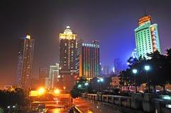 重庆晚上端口场面 免版税库存照片