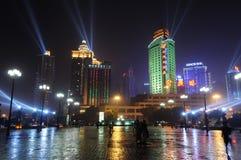 重庆晚上端口场面 图库摄影