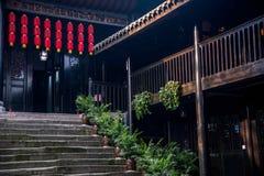 重庆著名镇'磁器口印象-----餐馆 库存照片