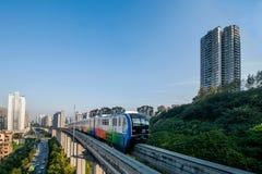 重庆都市路轨运输 免版税库存照片