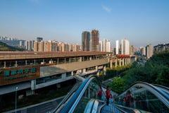 重庆都市路轨运输 图库摄影