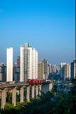 重庆都市路轨运输 免版税图库摄影