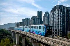 重庆都市路轨运输 库存照片