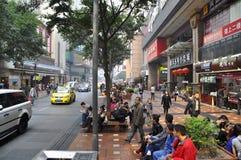 重庆食物街道 免版税库存图片