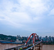 重庆Caiyuanba长江桥梁 免版税图库摄影