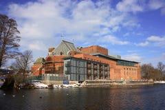 重建皇家莎士比亚剧院经过 图库摄影
