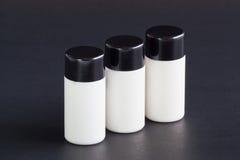 重新使用的液体肥皂瓶。 免版税库存照片