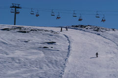 重新创建雪体育运动 免版税库存图片