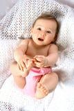重新启动作用脚趾的婴孩 免版税库存照片