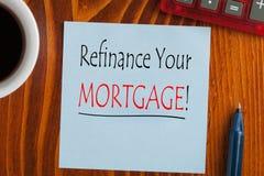 重新贷款您的抵押 库存照片