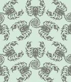 重漆无缝的样式:蝎子 库存照片