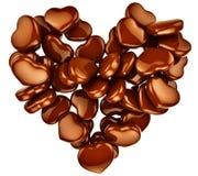 重点作为礼品的形状巧克力为情人节 免版税图库摄影