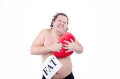 攻击重点保留人 肥胖人 库存照片