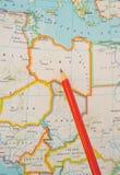 重点利比亚 免版税库存照片
