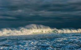 重点前景海浪通知  海景 库存图片