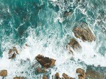 重点前景海浪通知 库存图片