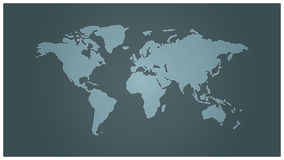 重点半球映射北简单的世界 免版税图库摄影