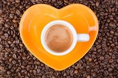 重点咖啡框架由咖啡豆制成 免版税图库摄影