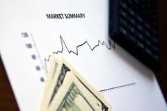 重点市场股票 库存图片