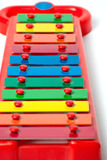 重点开玩笑metallophone有选择性的木琴 免版税库存图片
