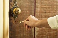 重点开锁 免版税库存照片