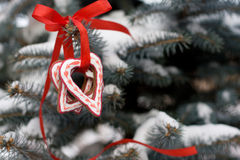重点形状圣诞节姜饼曲奇饼 免版税图库摄影