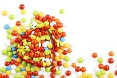 重点形状糖果配件箱 免版税库存图片