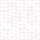 重点无缝模式的粉红色 华伦泰` s天装饰 免版税库存照片
