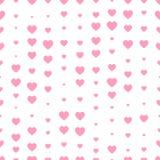 重点无缝模式的粉红色 装饰的华伦泰` s天 库存图片