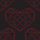 重点无缝模式的红色 向量例证