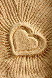 重点沙子形状 免版税图库摄影