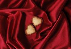 重点红色丝绸甜点 库存照片